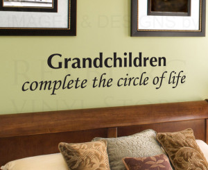 Wall-Decal-Quote-Sticker-Vinyl-Art-Lettering-Grandchildren-Circle-of ...