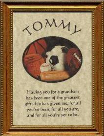 Grandson Gift Poem Personalized Name Plaque