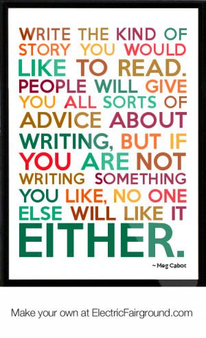 Meg Cabot Framed Quote