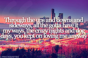 Church Quotes Tumblr Eric church - loving me anyway