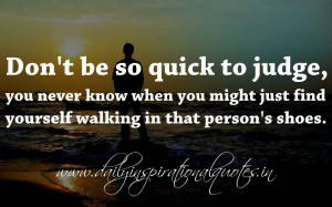 Don't be so quick to judge, you never know when you might just find ...