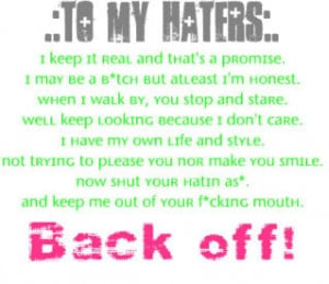 To My Haters Image