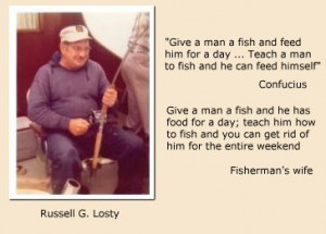After retiring his fishing pole, Russell quickly developed a passion ...