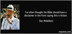 More Ian Mckellen Quotes