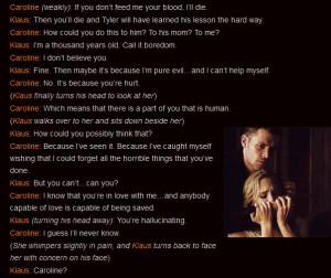 Vampire Diaries Klaus And Caroline Quotes