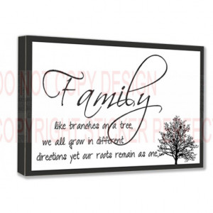 / Family/home / FRAMED CANVAS PRINT Family like branches on a tree ...