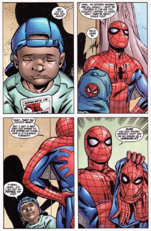 spider man hey little man you okay hmm my spidery senses are all ...