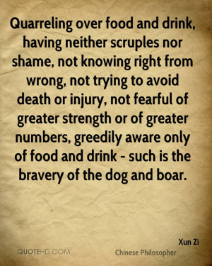 ... Knowing Right From Wrong, Not Trying To Avoid Death Or Injury