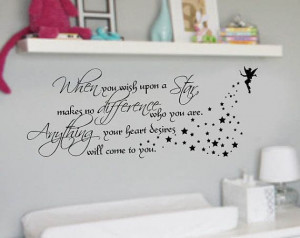 When you wish upon a star Quote Nursery VInyl Wall Lettering Decal ...