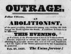 "Outrage,"" February 2, 1837 Handbill Rare Book and Special ..."