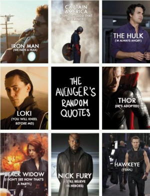 Avengers quotes- hawkeyes is