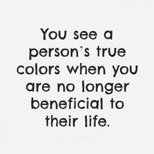 Person's True Colors