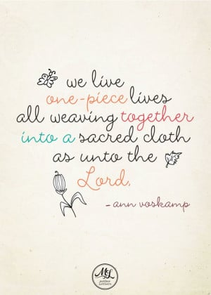 Ann Voskamp Quote - Mother Letters E-book
