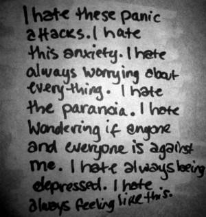 life depressed anxiety paranoia