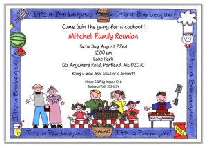 family reunion bbq barbeque cookout party invitations family reunion
