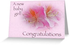 Congratulations New Baby Girl - Azaleas