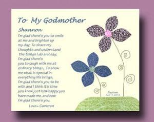 ... from Godchild - Godparent Gift - Godmother Baptism Keepsake - TREE