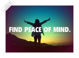 Find peace of mind quote