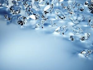 Midnight Blue Gems Wallpaper