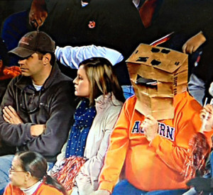 Picture of Auburn football fan with paper bag on his head - ABC 33/40 ...