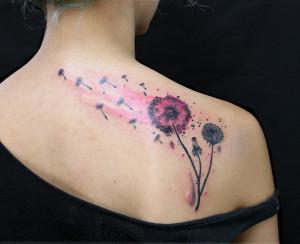 Dandelion Tattoo Design