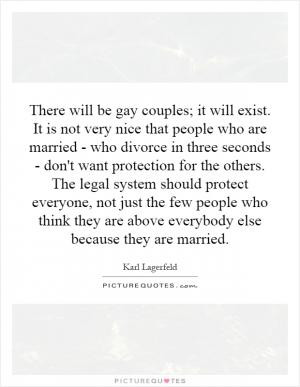 who are married - who divorce in three seconds - don't want protection ...