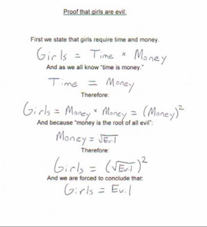 cute, evil, girls, money, quote, time