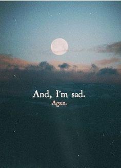 And I'm sad again.