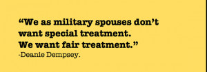 ... 2fnot interested in a spouse employment handout military spouse quote