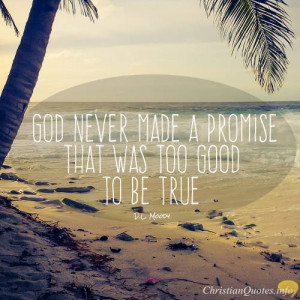 Moody Quote – Claim God's Promises Through Faith