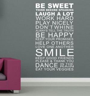 -Quote-Family-Rules-Wall-Art-Stickers-Words-Home-Decor-Wall-Stickers ...
