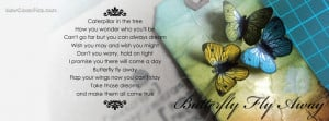 Butterfly Poem Cover for Facebook Timeline