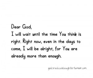 will be alright