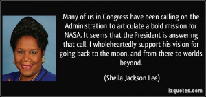 More Sheila Jackson Lee Quotes