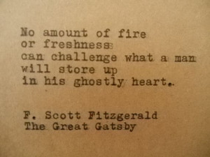 GREAT GATSBY F. Scott FITZGERALD Quote Typed on Typewriter