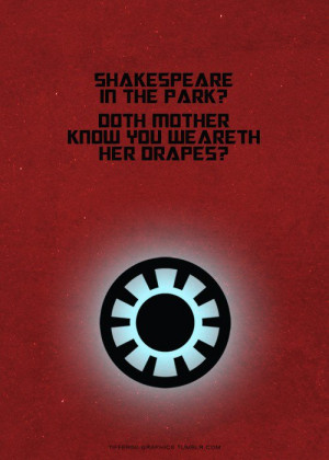 The Avengers, character quotes : Iron Man to Thor.