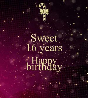 Sweet 16 Birthday Sayings Funny