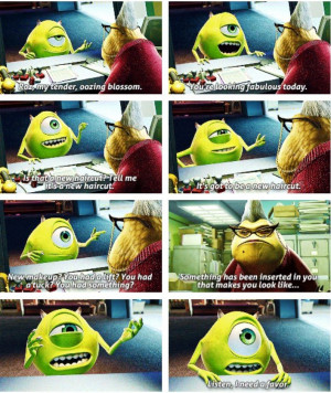 monsters inc mike wazowski quotes monsters inc mike wazowski quotes