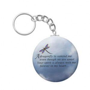 Dragonfly Memorial Poem Keychains