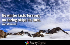 Funny quotes about winter ending