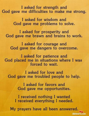 God gave me strength quotes