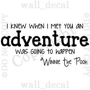 Winnie The Pooh I Knew When I Met You Adventure Vinyl Wall Decal ...