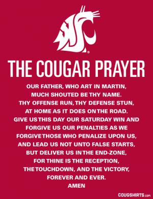 The Cougar Prayer
