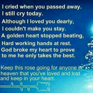 In memory of...mom, daddy, janet...