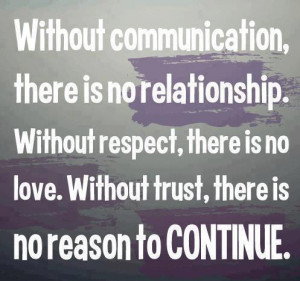 Without Communication, There Is No Relationship. - Inspirational Quote