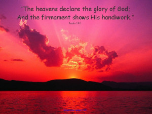 Sunsetwith Psalm 19:1 – This outstanding photo wasincluded in ...