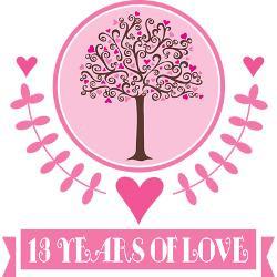 13th_anniversary_love_tree_greeting_card.jpg?height=250&width=250 ...