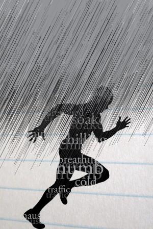 running in the rain poster