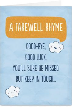 Goodbye and Good Luck Clip Art
