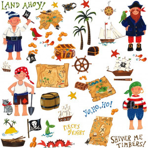 Treasure Hunt Pirate Wall Stickers